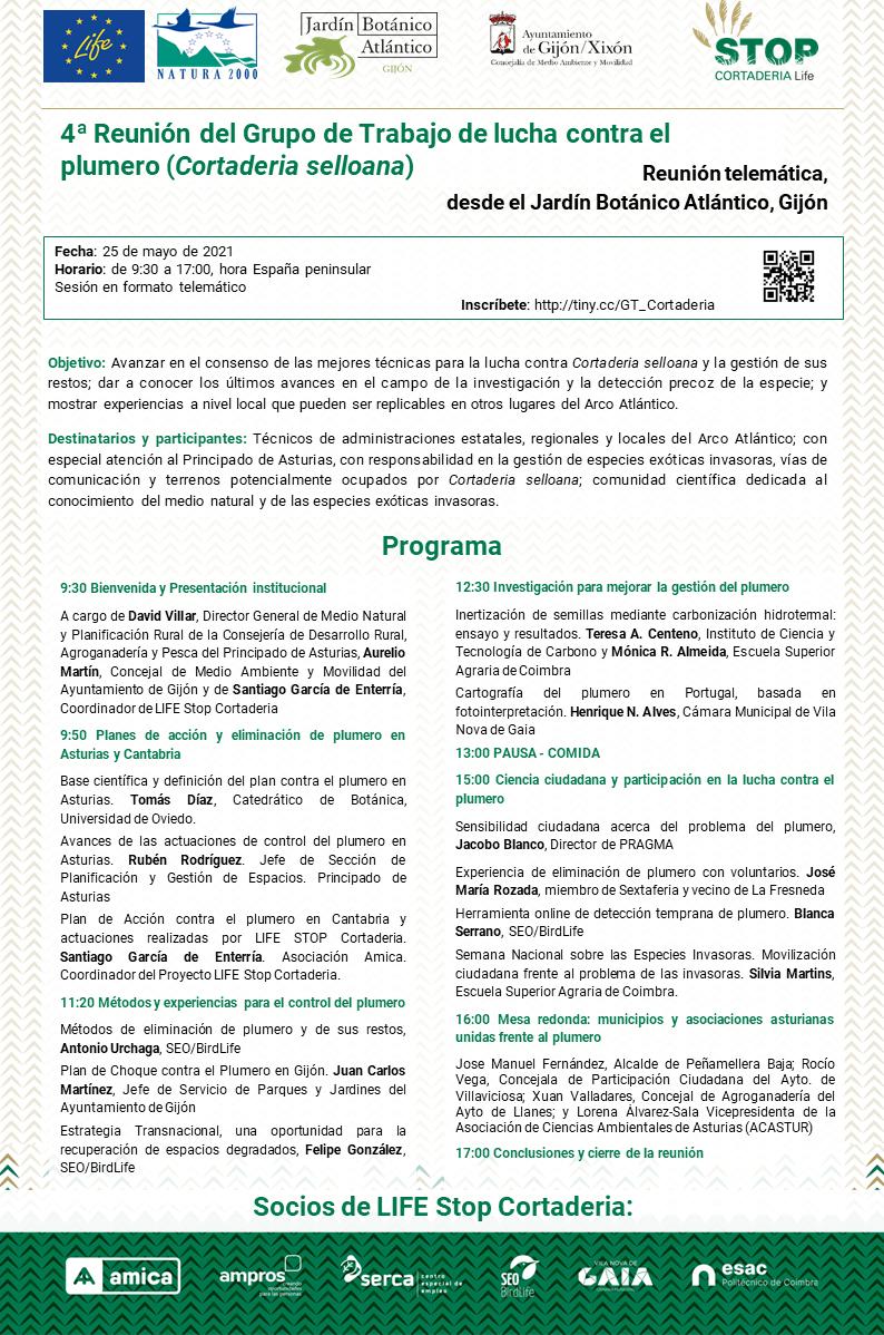 Programa 4ª Reunión Grupo de Trabajo (Gijón)